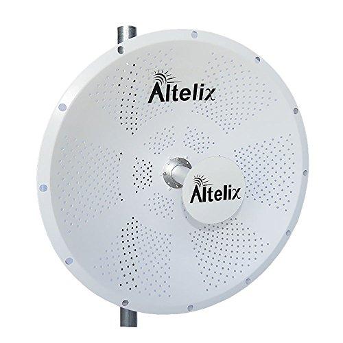 Altelix 5GHz 30dBi Light Weight 2x2 MIMO Dish Antenna for Ubiquiti RocketM5, Mimosa C5c, MikroTik BaseBox 5, Cambium ePMP