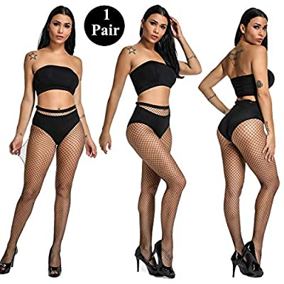 akiido High Waist Tights Fishnet Stockings Thigh High Stockings Pantyhose (1-A-4Pairs1) at Women's Clothing store