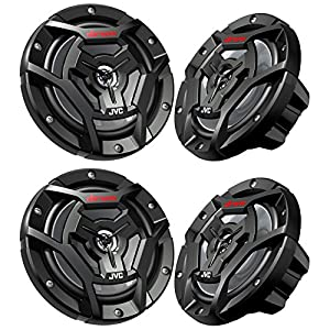 "(4) JVC CS-DR6200M 6.5"" 600w 2-Way Marine ATV Powersports Motorcycle Speakers"