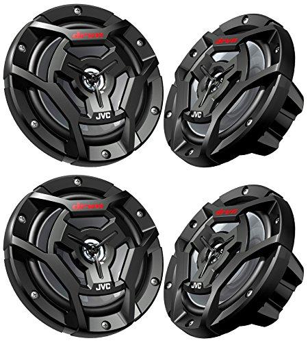 "(4) JVC CS-DR6200M 6.5"" 600w 2-Way Marine ATV Powersports Motorcycle Speakers"