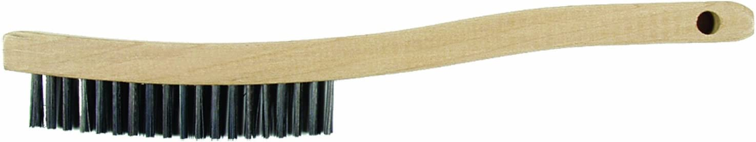 Task Tools T22640 19-Inch Carbon Wire Fill Scratch Brush with Long Handle LCM Team Task Tools