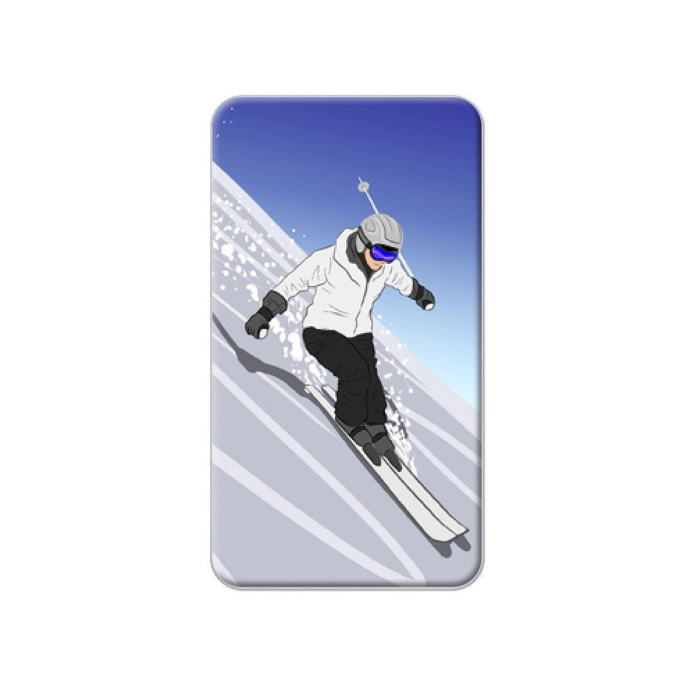 Ski Down A Mountain–Skifahrer Schnee, Ski Metall Revers Hat Shirt Handtasche Pin Krawattennadel Pinback