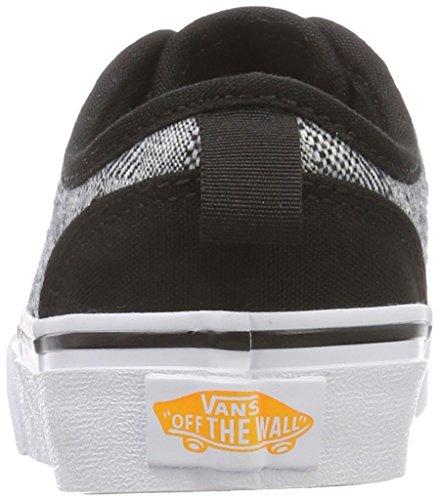 Para Slip Cordones Zapatillas checkered Sin Textile Unisex Vans Atwood on Negro Niños 5BXxT0q