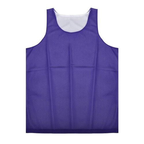 TOPTIE Men's Tank Top, Reversible Mesh Tank, Basketball Jerseys, Lacrosse Jersey-Purple/White-L