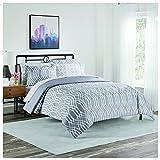 Simmons Cadence Bed in a Bag 7 Piece Comforter Set, King, Dark Grey