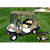 Golf Cart Driving Enclosure for 4 seater with 2 seater roof up to 58""