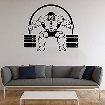 Bodybuilding Wall Vinyl Decal Bodybuilder Wall Vinyl Sticker GYM Decals Wall Vinyl Decor /2qpt/