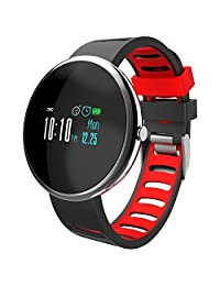 Fitness tracker,HOMESTEC Heart Rate Monitor, Smart Bracelet, Health Tracker Activity Fitness Wristband Pedometer,Sport Tracker-for Running,Walking,Sleeping for iPhone 8/X/7/7Plus/6/6s/6 Plus, Android and iOS Smart Phones