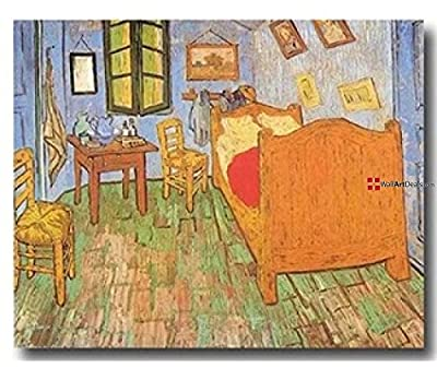 Framed Abstract Orange Vincent Van Gogh Wall Art Oil Painting 1 Piece