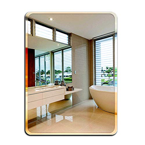 Frameless Rectangle Wall Mirror   Bathroom, Vanity, Bedroom Rectangular Mirror Bedroom, or - Pivoting Bathroom Horizontal Mirrors