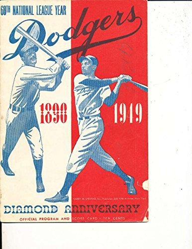 1949 Brooklyn Dodgers Program MLBp1