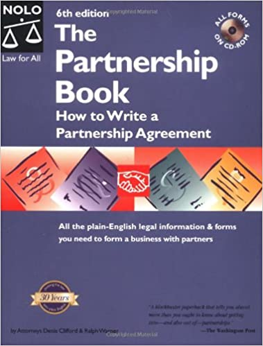 The Partnership Book How To Write A Partnership Agreement With Cd