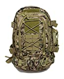 Military Expandable Tactical Rucksacks Backpacks with Hydration & Laptop Compartment Survival Kit Paintball Hiking Climbing Shooting Camping Outdoor Sports - Color Multicam