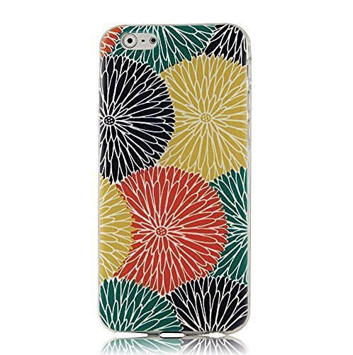 Caitin Fashion Style Colorful Painted Flowers Cell Phone Cases Cover for iPhone 5c (Laster Technology)