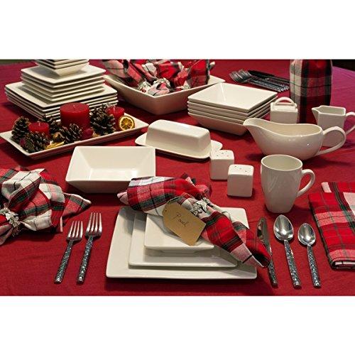 Elegant, Eye-catching Simply Square 40pc Dinnerware Set