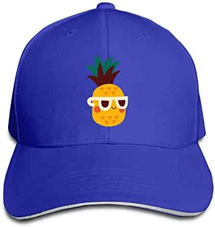 eed1562cbe191 BXGGCAP Pineapple Summer Floral Unisex Soft Adjustable Size Athletic Cap  Baseball Cap Hat for Men and