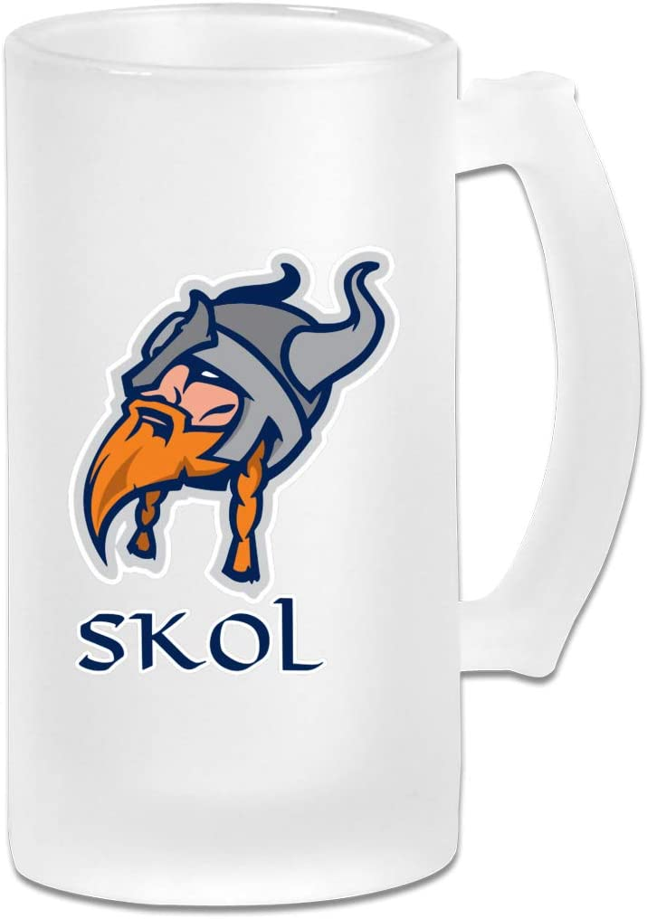 Skol Shirt Viking Funny Frosted Beer Mugs Glass,Frosted Glass Beer Mugs,Frosted Beer Mug