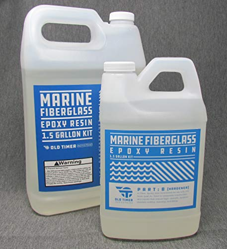 Crystal Clear Marine Epoxy Resin 1.5 Gal Kit. High-Strength Fiberglass Epoxy from Old Timer Industries by Old Timer Industries LLC. (Image #4)