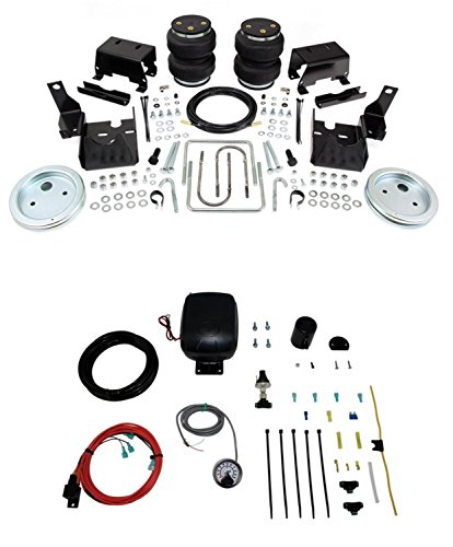 Air Lift 57229 25850 Set of Rear Load Lifter 5000 Series with Load Controller Single Path On-Board Air Compressor System Kit for 16-18 Nissan Titan XD