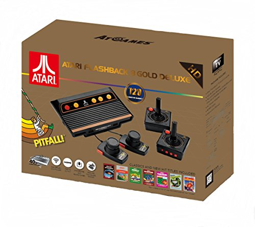 Atari Flashback 8 Gold Deluxe with 120 Games - Includes 2 Controllers and 2 Paddles - GameCube