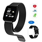 HuaWise Fitness Tracker,Activity Tracker Heart Rate Monitor Sleep Monitor,Bluetooth Waterproof Color Screen Smart Watch,Step Counter Pedometer Calorie Counter Women Men Kids
