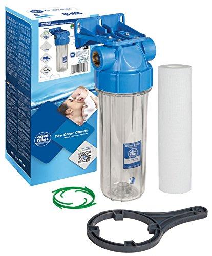 10' Aquafilter In-line Water Filter Housing Transparent 3/4' or 1/2', Fits...