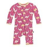Kyпить Kickee Pants Print Coverall with Snaps in Flamingo Emu, 4T на Amazon.com