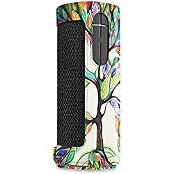 Fintie UE BOOM 2 / UE BOOM Case - PU Leather Carrying Sleeve Cover With Removable Holding Strap + Carabiner Keychain For Logitech Ultimate Ears UE BOOM 1/2 Wireless Bluetooth Speaker, Love Tree
