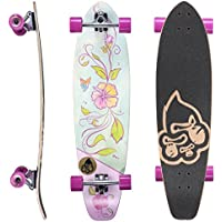 BIKESTAR Canadian Maple Drop Through Flush Cut Pro Longboard Skateboard für Kinder u Erwachsene ab ca. 10-14 Jahre | 65 mm 75mm Downhill, Freeride, Race, Long Distance, Cruiser, Dancer, Carving