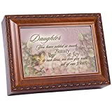 Cottage Garden Music Box - Daughter Joy Plays You Light Up My Life With Woodgrain Finish