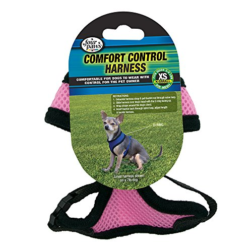 Four Paws Comfort Control Harness, Rosado, XS