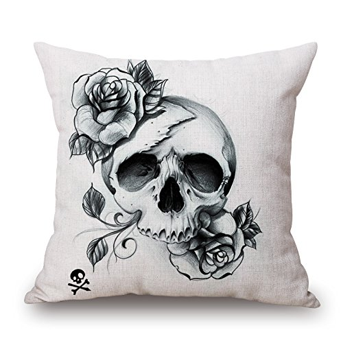 Jazz Age Costume Ideas (Slimmingpiggy 16 X 16 Inches / 40 By 40 Cm Skull Pillow Shams ,both Sides Ornament And Gift To Bar,teens Girls,teens,father,car Seat,birthday)