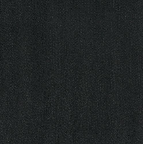 - Onyx Black Plain Chenille Upholstery Fabric by the yard
