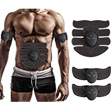 Toner, cinturón de tonificación abdominal muscular, EMS ABS Trainer inalámbrico cuerpo Gimnasio Home Office Fitness Equipo para abdomen/Brazo/pierna Hombres Mujeres por Jia Le