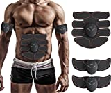 electronic muscle stimulator ems - Muscle Toner, Abdominal Toning Belt, EMS ABS Trainer Wireless Body Gym Workout Home Office Fitness Equipment For Abdomen/Arm/Leg Training Men Women By JIA LE