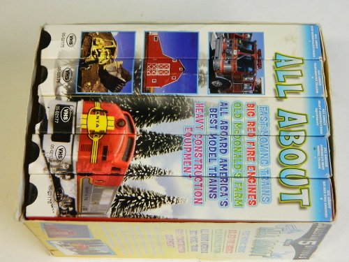 All About- (Vhs 5 Pack) Fast-moving Trains, Big Red Fire Engines, Old Mcdonald's Farm, All Aboard America's Best Model Trains, and Heavy Construction Equipment