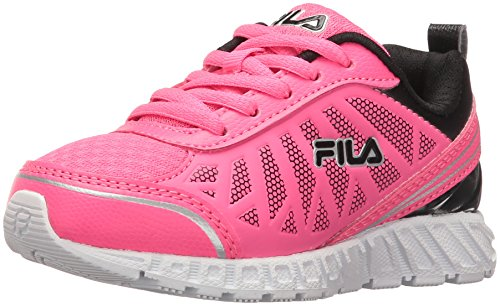 (Fila Girls' BLASTRUNNER 2 Skate Shoe Knockout Pink/Black/White 2 M US Little Kid)