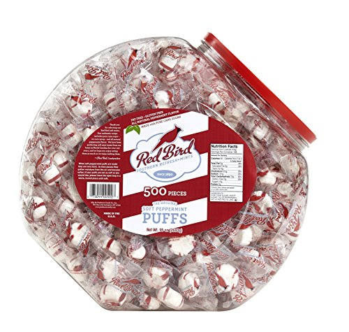 Red Bird 500 Count Peppermint Puffs Candy Tub (95 oz.) -