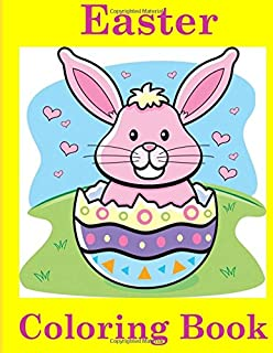Easter Coloring Book For Kids Ages 4