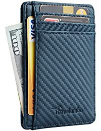 Front Pocket Minimalist Leather Slim Wallet RFID Blocking...