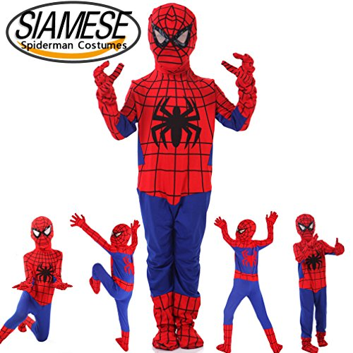 PNBB Kids Spiderman Costume Cosplay ,Mediun Size (Cheap Spiderman Costume)