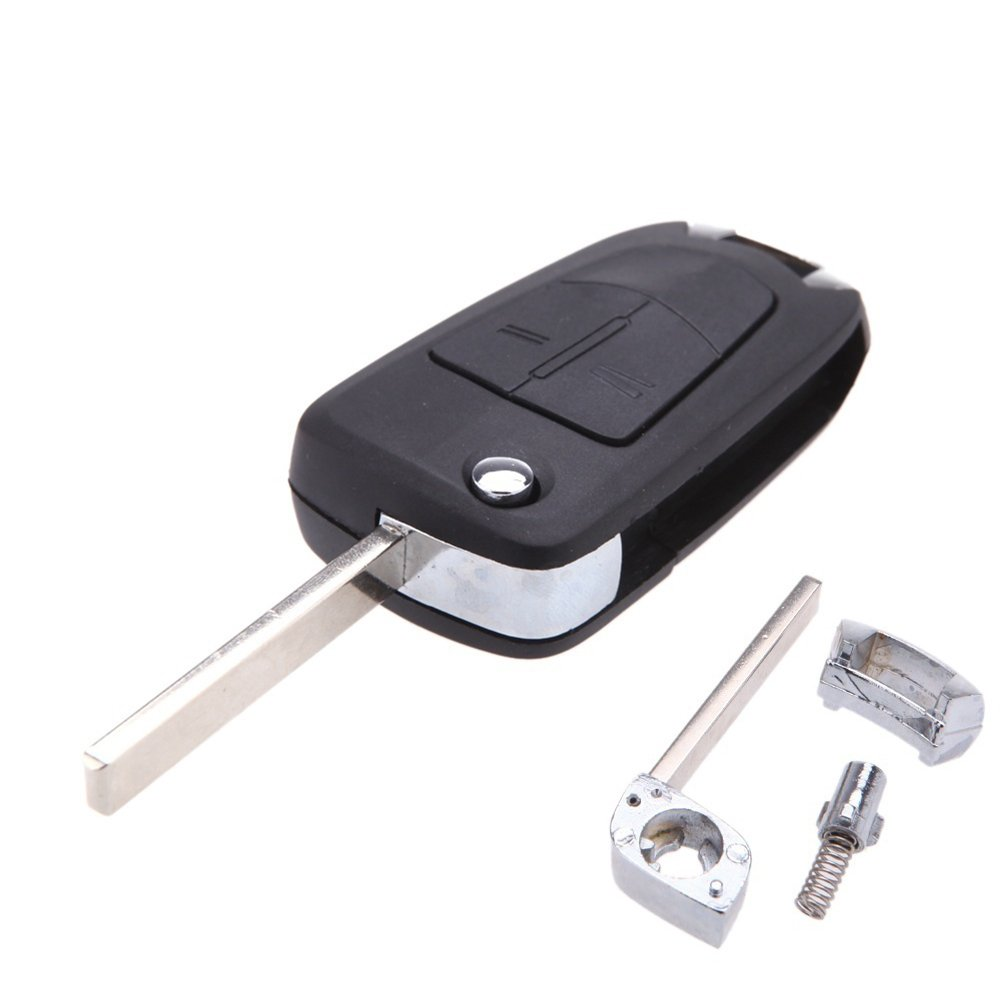 KaTur 2 Buttons Flip Remote Folding Car Key Fob Case for Vauxhall Opel Corsa Astra Vectra Signum Uncut Car Key Shell Car Cover No Chip