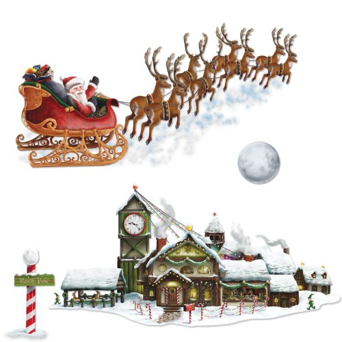 Santa's Sleigh & Workshop Props Party Accessory (1 count) (4/Pkg)]()