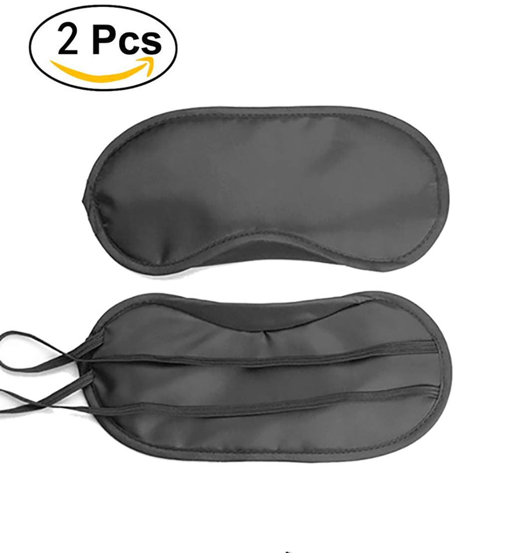 100/% Masque de couchage Confortable pour une Relaxation Profonde Meilleur Masque pour les Yeux et Masque de Nuit 2 Pack Noir Masques de Sommeil // Masque de Couchage