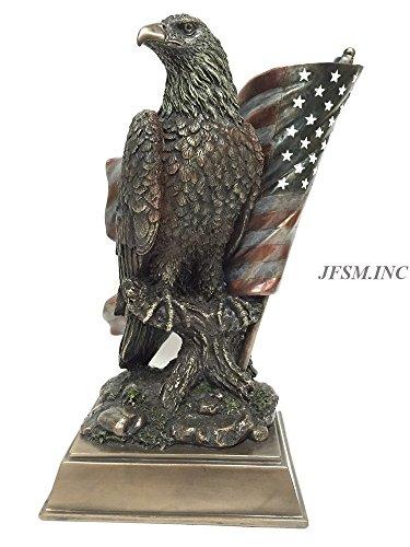 Veronese American Pride – Bald Eagle with Stars Stripes Statue Sculpture