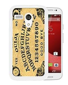 Unique Designed Skin Case For Motorola Moto G With Ouija Board White Phone Case