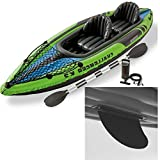 2-Person Kayak with Cargo Net Repair Kit Aluminum Padles and Air Pump Inflatable River/ Lake Green Kayak with Accessories Kayaking Gear Set eBook by Easy&FunDeals