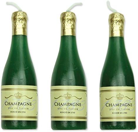 CLUB GREEN Candle Champagne Bottle 24.5 x 17 x 12.5 cm Green 6XB//P Card