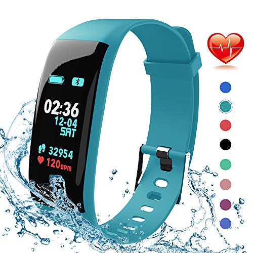 Fitness Tracker, Activity Tracker Watch with Heart Rate Monitor, IP67 Waterproof Fitness Watch with Step Counter, Calorie Counter, Pedometer Watch for Kids Women and Men