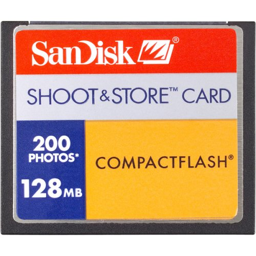 Compactflash Card 128MB (200 Picture, Retail Package)